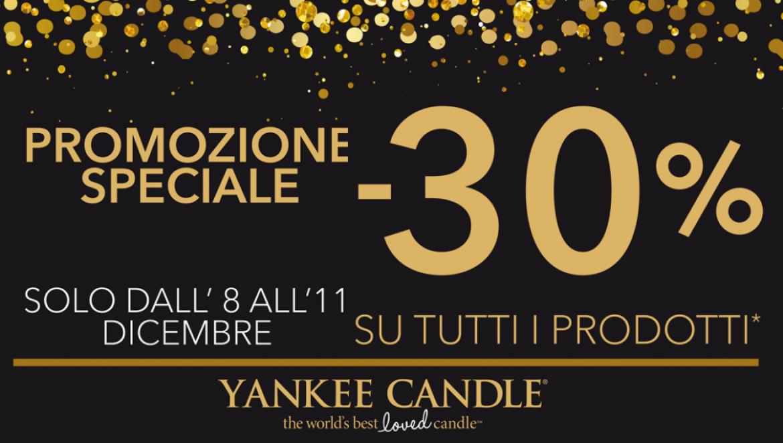 Yankee Candle TUTTO SCONTATO al 30%